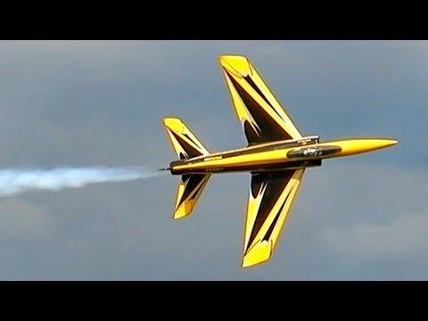 SHOCKWAVE RC TURBINE SPORT JET MODEL DEMO FLIGHT FULL DISPLAY / Jetpower Messe 2015