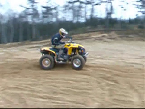 Can-Am Renegade 800    0-117km/h and crazy ride