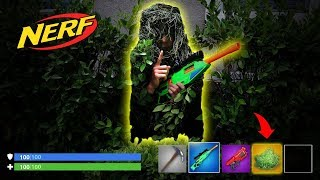 NERF *Fortnite IRL* Bush Hide & Seek in the Dark!!