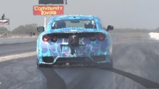 She might be the BEST driver we've ever seen! (2000hp Nissan GTR)