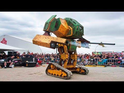 Состоялась первая эпическая битва огромных роботов