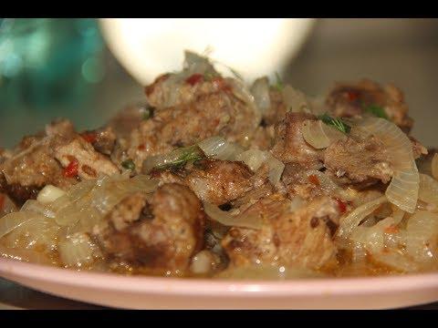 Мясо на луковой подушке / шашлык в духовке
