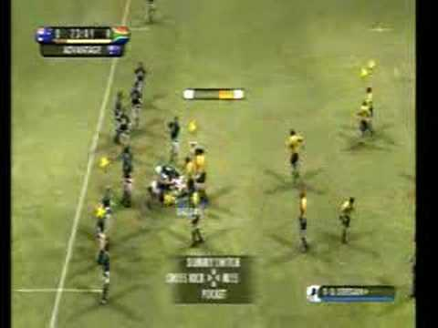 1st half of Australia vs South Africa. Elite difficulty. Side view Camera.