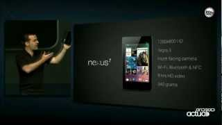 GOOGLE NEXUS 7 TABLET (ASUS) OFFICIAL PRESENTATION - GOOGLE IO 2012