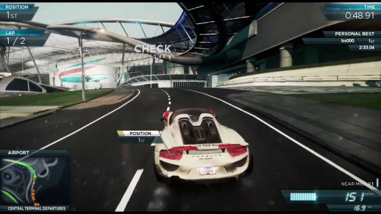 porsche 918 spyder gameplay all events need for speed most wanted 2012 terminal velocity. Black Bedroom Furniture Sets. Home Design Ideas