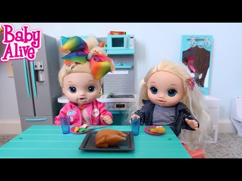 BABY ALIVE Lulus Emma Dinner Night Time Routine In The New House