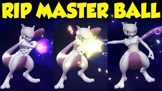 MEWTWO DEFLECTED MY MASTER BALL??? Pokemon Let's Go Mewtwo Battle
