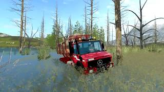 Driving Logs with MB Unimog FOREST