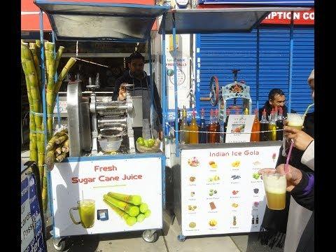 Indian Street Food & Drink: Fresh Sugar Cane Juice not in Navsari, India but in Kingsbury London.
