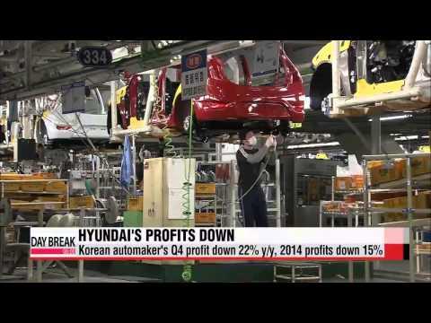 Hyundai Motors′ Q4 profit down 22% y/y, 2014 profits down 15%   현대차 4분기 실적