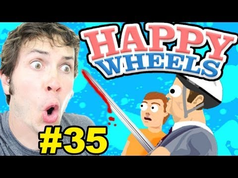 Happy Wheels - SWORD LAUNCH! - Part 35