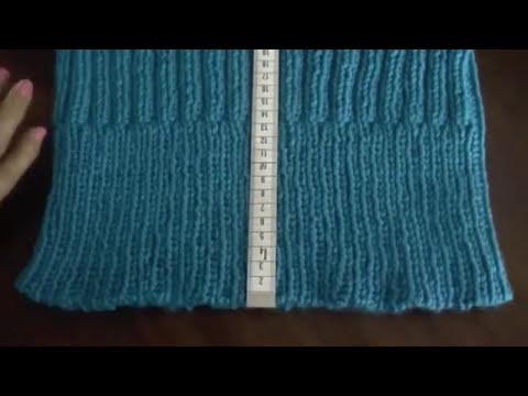 Cuello tejido en dos agujas en punto elástico