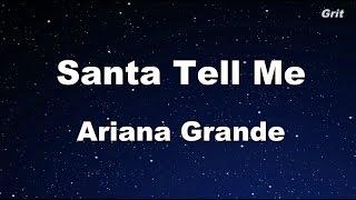 Download Lagu Santa Tell Me - Ariana Grande Karaoke【With Guide Melody】 Gratis STAFABAND