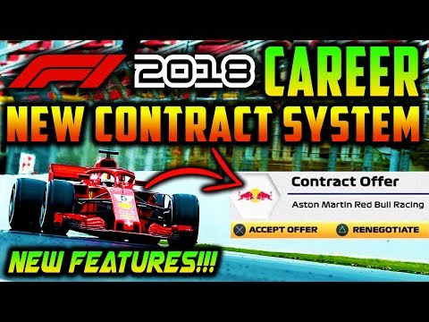 F1 2018 Game Career Mode: NEW CONTRACT SYSTEM, CONTRACT PERKS!!! (E3 F1 2018 News)