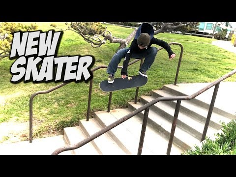 SKATING WITH NEW KID MILES NELSON !!! - NKA VIDS -