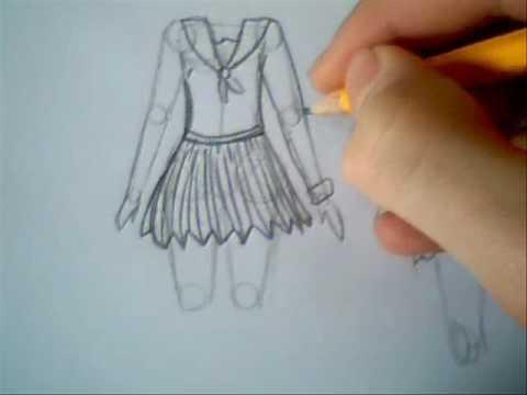 School Drawing Draw Manga School Clothes