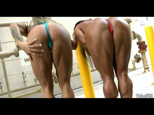 Larissa Reis and Monica Martin sexy fitness girls.FEMALE BODYBUILDERS