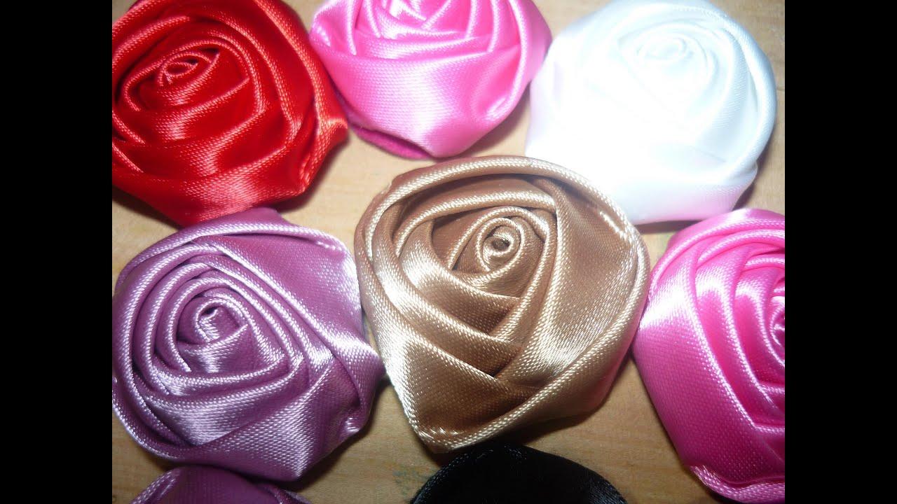 Flores kanzashi en cinta para el cabello paso a paso no - Www como hacer flores com ...