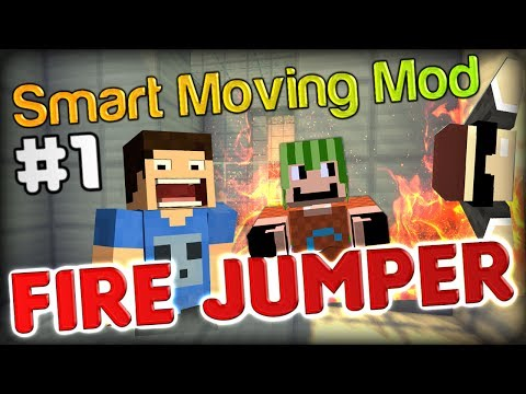 More TROLLING SUBJECTS! - Minecraft Smart Moving Mod Fire Jumper Part 1 w/ Double and Simon
