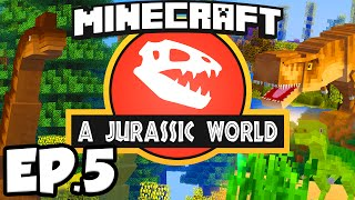 Jurassic World: Minecraft Modded Survival Ep.5 - SMELTERY CASTS!!! (Rexxit Modpack)