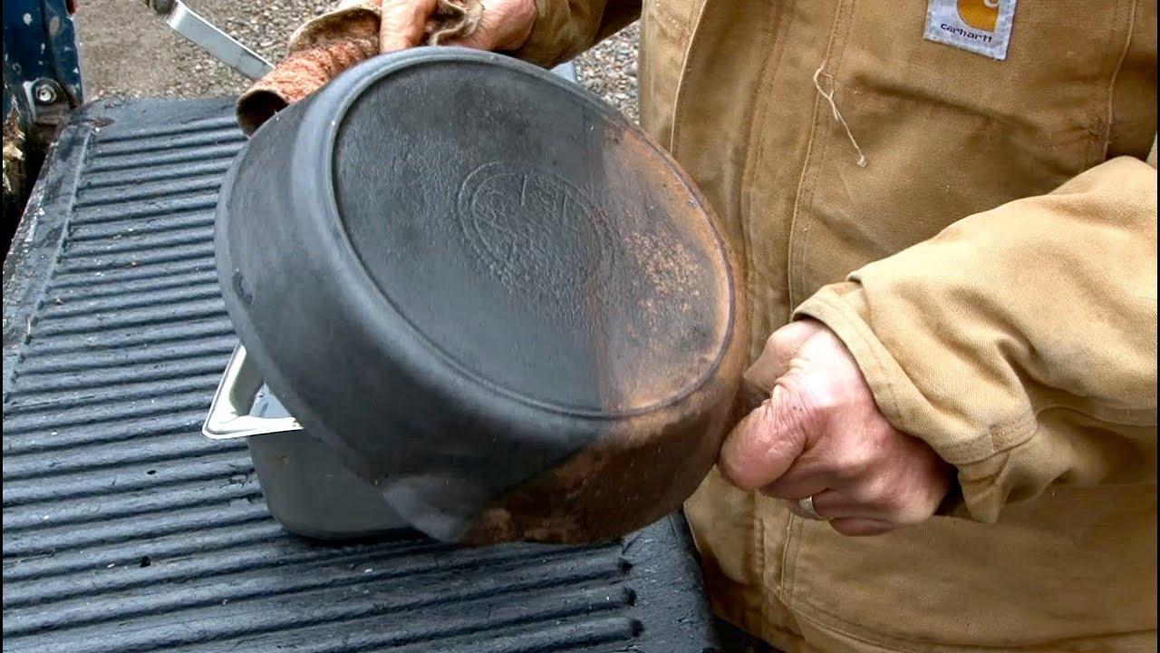 Dissolve Rust Iron Evapo Rust Cast Iron Skillet