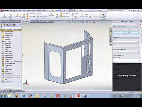 SolidWorks Sheetmetal Functionality and Use