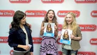 Rowan Blanchard and Sabrina Carpenter Who Is More Likely | Radio Disney Insider | Radio Disney