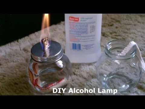 DIY Alcohol Lamp - w/quick