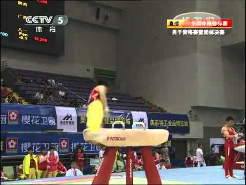 Zhang Hongtao Pommel horse chinese national 2011 qualification