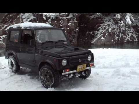 Suzuki Jimny - Samurai 660cc 4X4 Turbo & Mitsubishi - Mini pajero 4x4 660cc On Ice Part 1