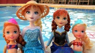 POOL ! Lifeguard RESCUES toddler ANNA ! Water Fun - Playing - Splash - Swim -  Dive - Toddler Elsa