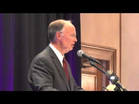 Governor Robert Bentley Speaks to Crowd at Candidate Forum