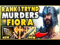 #1 TRYNDAMERE WORLD DESTROYS ENEMY FIORA TOP! (REPORTED FOR FEEDING)   League Of Legends