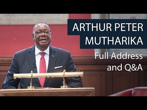 H.E  Arthur Peter Mutharika | Full Address and Q&A | Oxford Union