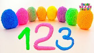 TOP Learn To Count with Squishy Glitter Foam Numbers 1 to 20 Collection | Unboxing surprise eggs