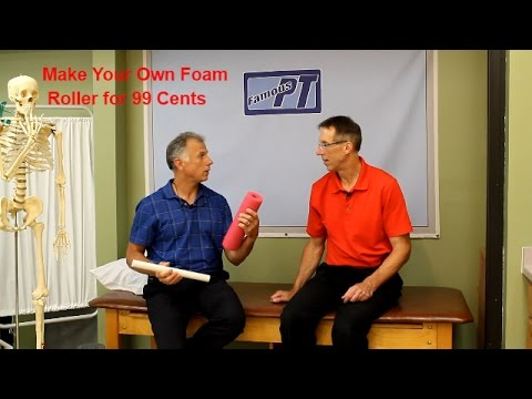 How to Make Your Own Foam Roller for 99 cents or less.