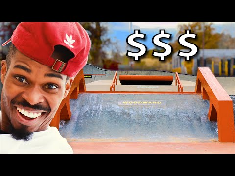 WE DESTROYED THE MOST EXPENSIVE SKATEPARK AT WOODWARD