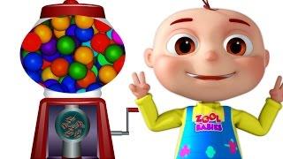 Five Little Babies Using Ball Machine | Nursery Rhymes & Kids Songs | Compilation