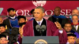 Obama Exhorts Good Deeds by Morehouse Graduates