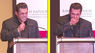Salman Khan's FUNNIEST Speech Where He Could'nt Stop Laughing At All