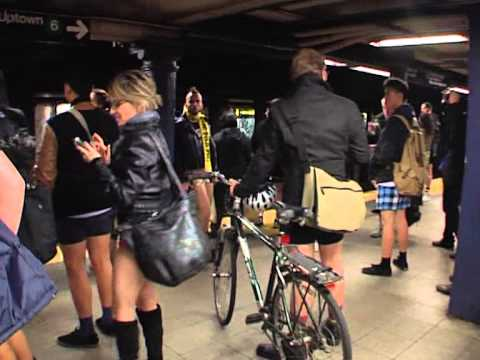 no pants subway metro ride new york  2013.mpg Music Videos