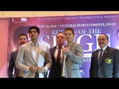 Vijender Singh fight Australia's Kerry Hope WBO Aisa middle weight championship in Delhi.