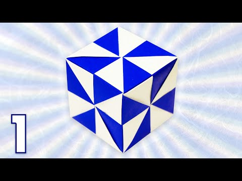 Origami Pinwheel Cube (Folding Instructions) ~Part One~