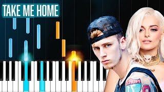 "Download Lagu Machine Gun Kelly, X Ambassadors & Bebe Rexha - ""Home"" Piano Tutorial - Chords - How To Play - Cover Gratis STAFABAND"