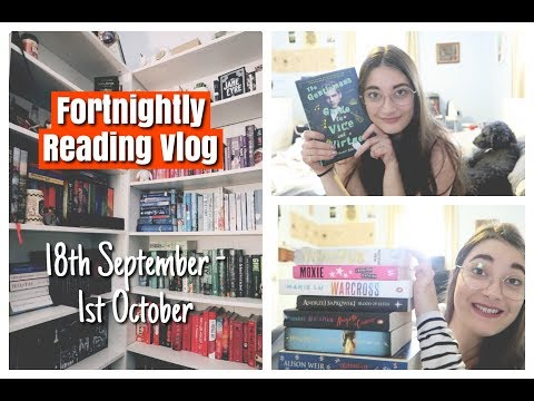 FORTNIGHTLY READING VLOG | 18th September - 1st October!