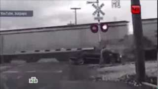 Woman on Mercedes twice hit by a train and survived. Woods Cross, Utah, USA. Попала под поезд