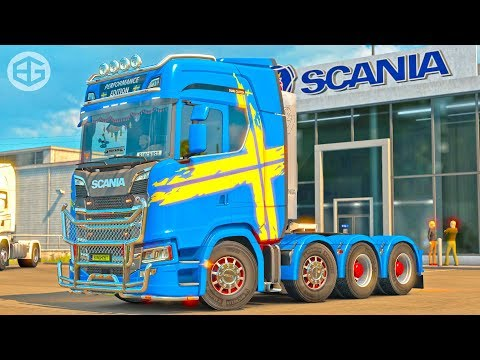 (5.27 MB) [ETS2 v1.30] New Scania 8x4 Chassis