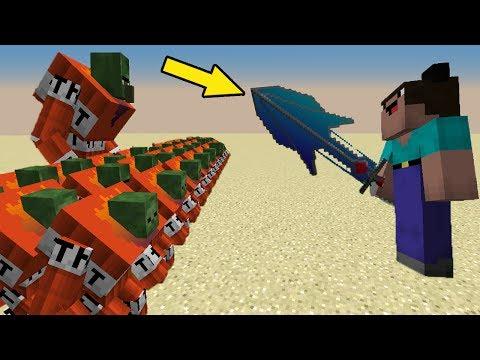 МОД НА НУБ против 1000 КЛОНОВ ЗОМБИ ПОЖАРНИКОВ и АЛМАЗ ГИГАНТ в Троллинг НУБА в Minecraft Серия 09