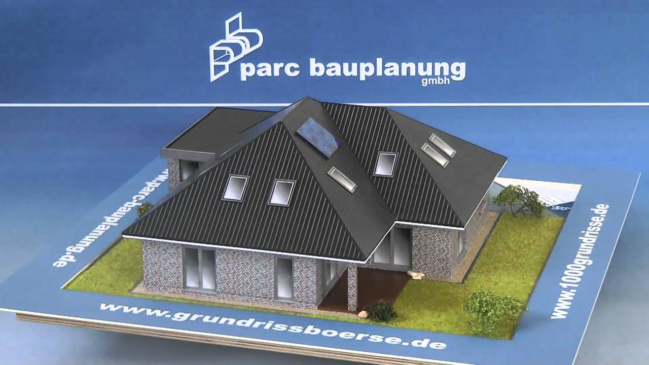 gro er bungalow mit garage ca 150 qm wohnfl che parc bauplanung gmbh youtube. Black Bedroom Furniture Sets. Home Design Ideas