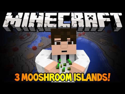 Minecraft 1.6.2 Seed Spotlight - 3 MUSHROOM ISLANDS. STRONGHOLD NEAR SPAWN!